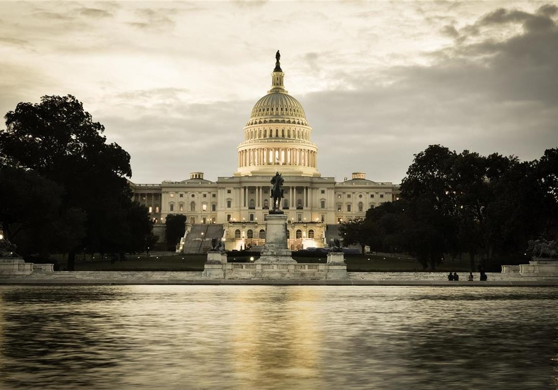 US Capitol Building and reflecting pool